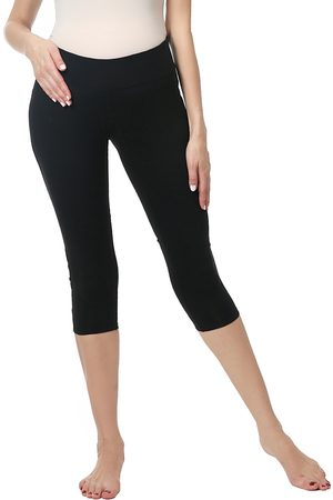 Kimi and Kai Women's Eva Under The Belly Maternity Crop Leggings