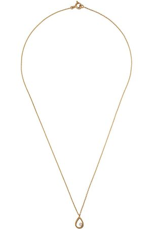 AS29 Women Necklaces - 18kt yellow Mye pear beading diamond necklace