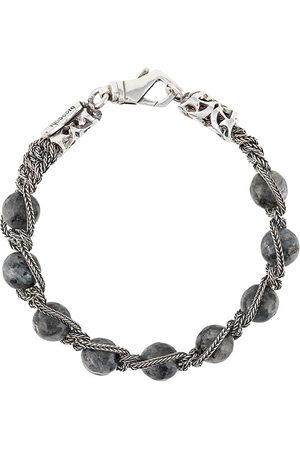EMANUELE BICOCCHI Bracelets - Beaded braided-chain bracelet - Grey