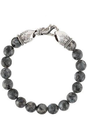 EMANUELE BICOCCHI Stone-embellished beaded bracelet - Grey