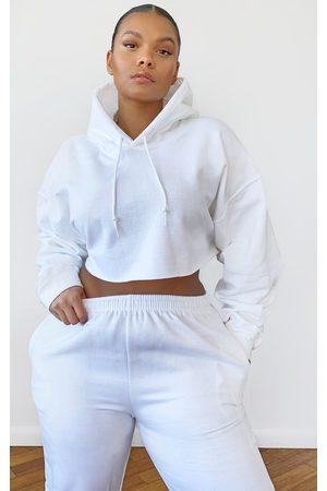 PRETTYLITTLETHING Women Hoodies - Plus Ultimate Oversized Crop Hoodie