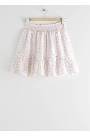 & OTHER STORIES Women Mini Skirts - Smocked Frill Mini Skirt