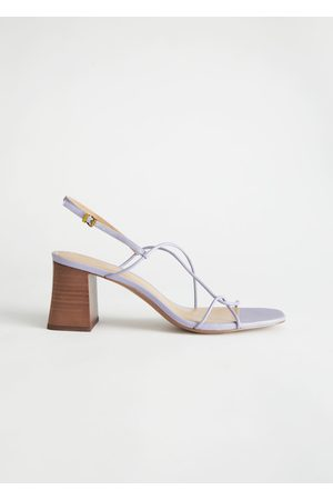 & OTHER STORIES Women Heels - Strappy Leather Heeled Sandal