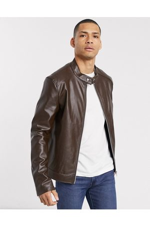 ASOS Faux leather racer jacket in