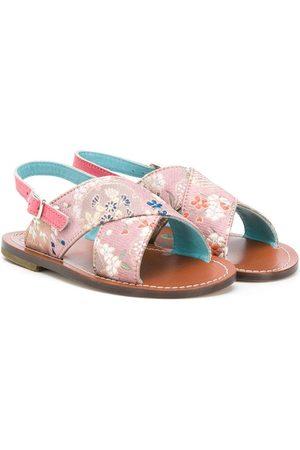 PèPè Buckled floral sandals
