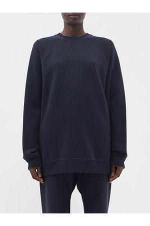 Raey Organic And Recycled-yarn Cotton-blend Sweatshirt - Womens - Navy