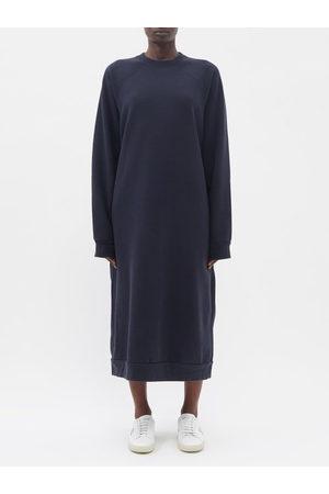 Raey Women Sweats - Recycled-yarn Cotton-blend Sweatshirt Dress - Womens - Navy