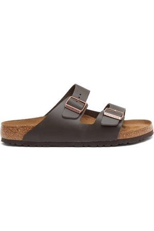 Birkenstock Arizona Two-strap Leather Sandals - Mens - Dark