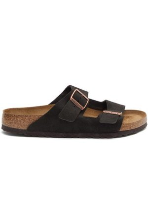 Birkenstock Arizona Two-strap Suede Slides - Mens