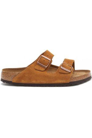 Birkenstock Arizona Two-strap Suede Slides - Mens - Tan