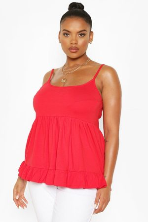 Boohoo Womens Plus Cotton Tiered Smock Cami - 12
