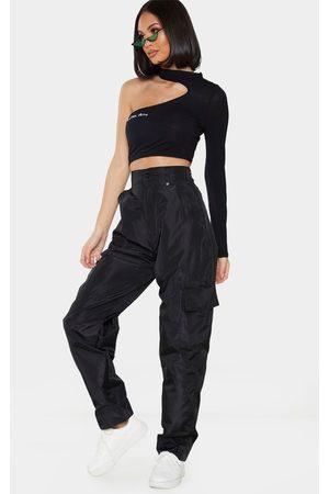 PRETTYLITTLETHING Women Cargo Pants - Shell Straight Cargo Pocket Pants