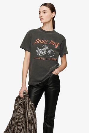 ANINE BING Women T-shirts - Lili T-Shirt Motorcycle In Charcoal