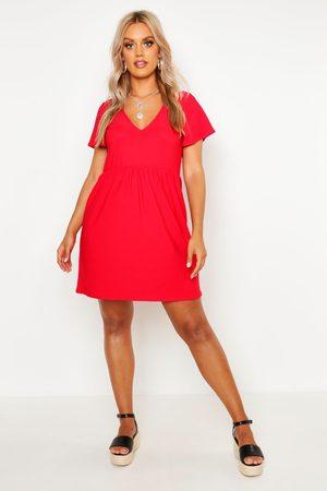 Boohoo Womens Plus Plunge Front Cap Sleeve Sundress - - 12