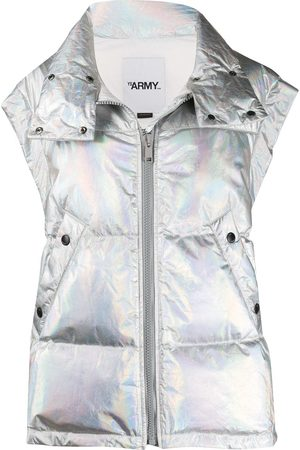 YVES SALOMON Holographic down gilet