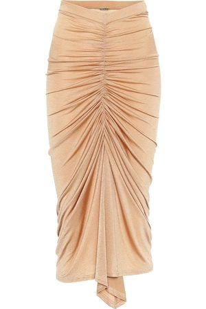 DODO BAR OR Ruched high-rise midi skirt