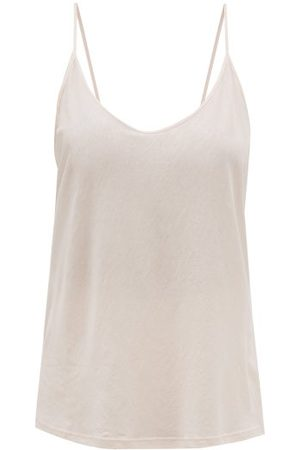 SKIN Scoop-neck Cotton Cami Top - Womens - Light