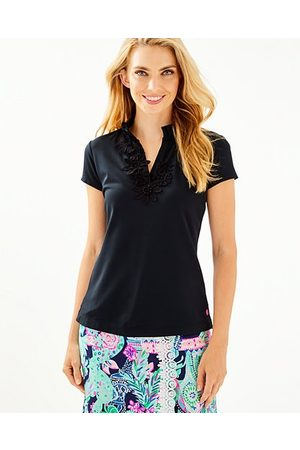 Lilly Pulitzer UPF 50+ Luxletic Frida Flower Polo Top