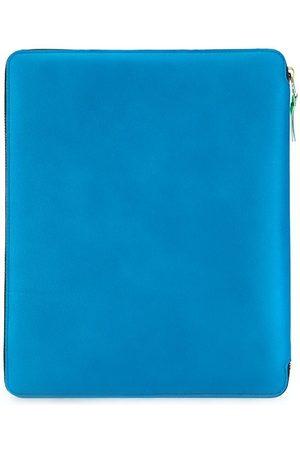 Comme des Garçons Colour-block zipped laptop case 23cmx28cm