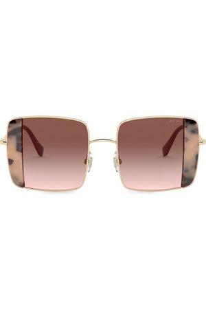 Miu Miu Women Square - Noir square-frame sunglasses
