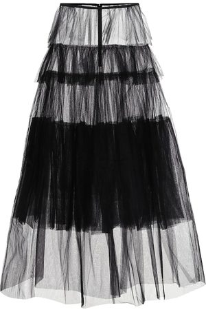DRIES VAN NOTEN Tiered tulle maxi skirt