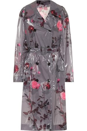 DRIES VAN NOTEN Floral laminated trench coat