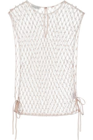DRIES VAN NOTEN Beaded mesh top