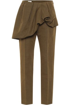 DRIES VAN NOTEN Cotton and linen slim pants