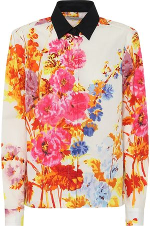 DRIES VAN NOTEN Floral cotton-poplin shirt