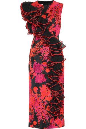 DRIES VAN NOTEN Floral cotton-blend midi dress