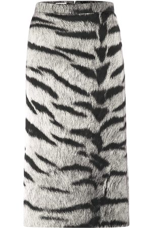 DRIES VAN NOTEN Tiger-print pencil skirt