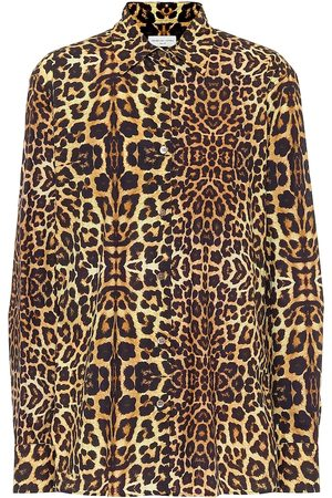 DRIES VAN NOTEN Leopard-print cotton shirt