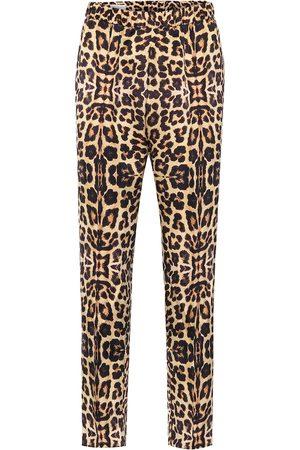 DRIES VAN NOTEN Leopard-print straight pants