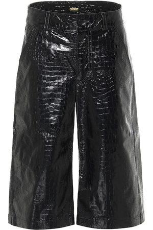 DODO BAR OR Croc-effect leather Bermuda shorts
