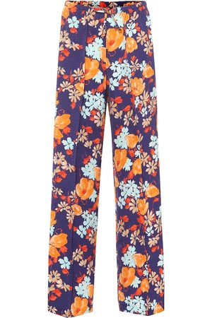 DRIES VAN NOTEN Floral jacquard wide-leg pants