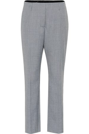 DRIES VAN NOTEN High-rise wool-blend pants