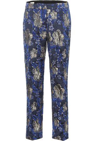 DRIES VAN NOTEN Printed jacquard pants