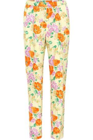 DRIES VAN NOTEN Floral jacquard pants