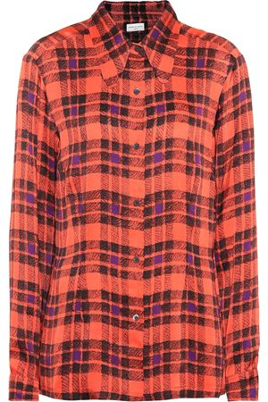 DRIES VAN NOTEN Plaid satin shirt