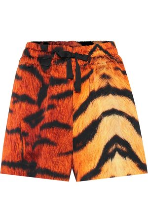 DRIES VAN NOTEN Tiger-print drawstring shorts