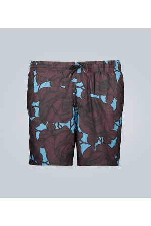 DRIES VAN NOTEN Floral print swim shorts