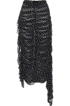 DRIES VAN NOTEN High-rise polka-dot silk skirt