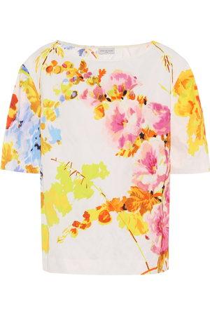 DRIES VAN NOTEN Floral jacquard top