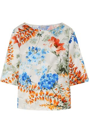 DRIES VAN NOTEN Floral-printed twill top