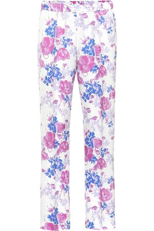 DRIES VAN NOTEN Floral jacquard pants