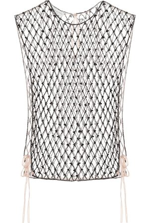 DRIES VAN NOTEN Embellished mesh top