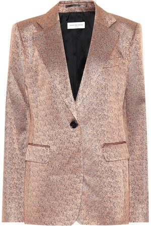 DRIES VAN NOTEN Metallic jacquard blazer