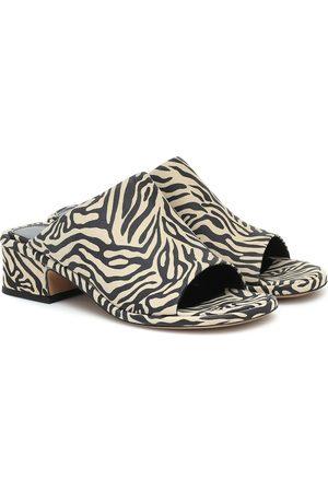 DRIES VAN NOTEN Zebra-print suede sandals