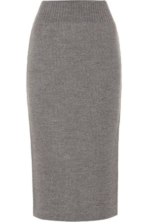 DRIES VAN NOTEN Wool-blend pencil skirt