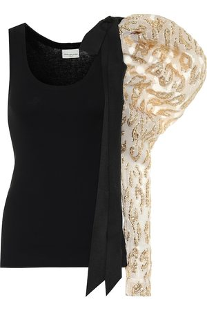 DRIES VAN NOTEN Brocade asymmetrical tank top